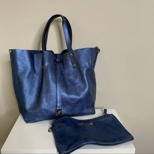 Tiffany & Co. Reversible Blue Suede/Leather